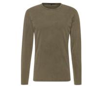 Langarmshirt im Used-Look 'Yoshi' khaki