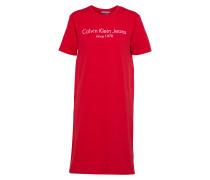 Kleid 'doon' rot / weiß