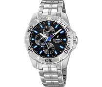 Uhr 'f20445/6' schwarz / silber