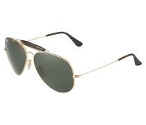 Sonnenbrille mit Pilotengläsern dunkelgrün