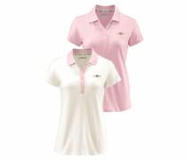 Poloshirt rosa / offwhite