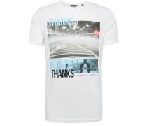Shirt 'berge' mischfarben / weiß