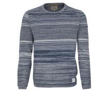 Pullover taubenblau / weiß