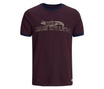 T-Shirt dunkelblau / weinrot