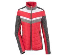 Jacke graumeliert / rot / weiß