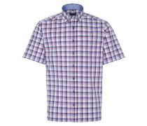 Kurzarmhemd 'comfort Fit' blau / rot / weiß