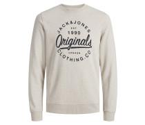 Klassisches Sweatshirt beigemeliert