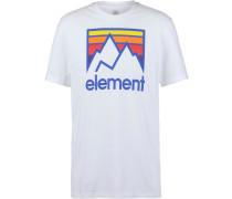 T-Shirt 'Link' mischfarben / weiß