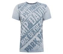 Shirt 't-shirt 1/2' blau