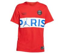 T-Shirt rot / weiß / blau