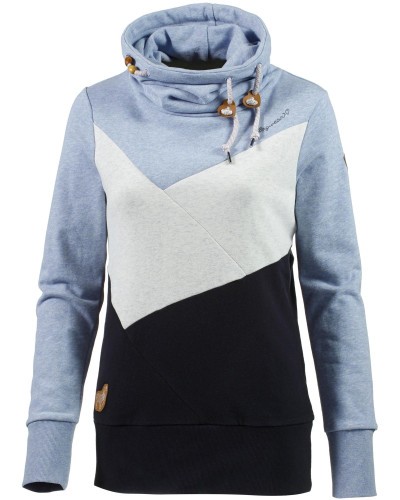 Sweatshirt Damen blau / braun