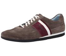 Sneaker braun / kirschrot / weiß