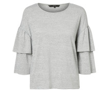 Bluse mit 3/4 Ärmeln grau