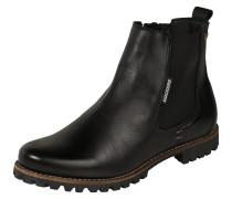 Chelsea-Boots aus Leder schwarz