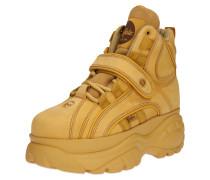 Sneaker mit Plateau camel / gelb