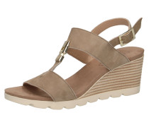 Sandaletten hellbeige / dunkelbeige / weiß