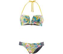 'Tropic Tribe' Bandeau Bikini