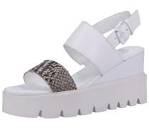 Sandalen grau / weiß