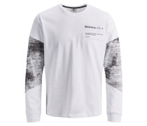 Shirt basaltgrau / weiß