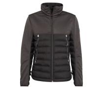 Jacke dunkelbraun / schwarz
