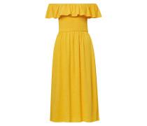 Carmen-Kleid goldgelb
