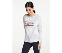 T-Shirt grau / weißmeliert