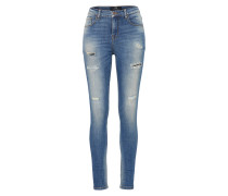 Skinny Jeans 'Tanya' blue denim