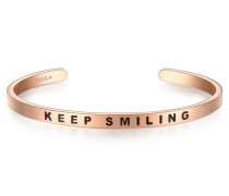 Armband Bangle mit Aufschrift Keep Smiling
