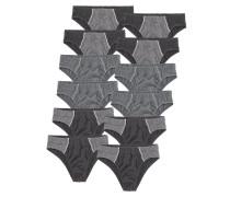 Slips (12 Stck.) grau / anthrazit