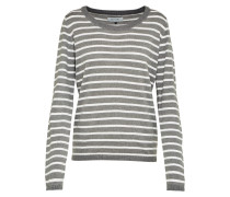 Pullover 'Lina' hellgrau / weiß