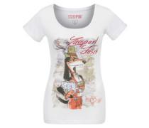 Shirt 'Fesch' mischfarben / weiß