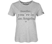T-Shirt 'crew TS Smile' graumeliert