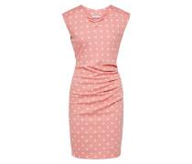 Kleid 'India' rosa / weiß