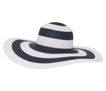 Stroh Hut dunkelblau / weiß