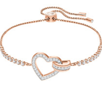 Armband 'Lovely' rosegold / transparent