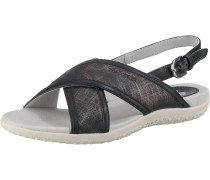 Komfort-Sandalen silbergrau / schwarz