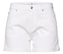 Shorts 'boy' white denim