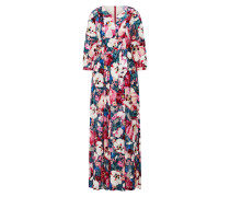 Kleid 'padella' petrol / pink / naturweiß