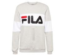 Sweatshirt hellgrau / weiß