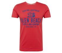 T-Shirt navy / rot