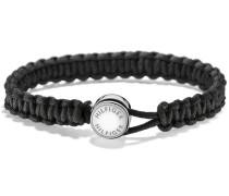 Armband 'Makramee' schwarz / silber