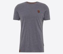 T-Shirt 'Italienischer Hengst' taubenblau