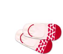 Füßlinge 'Hidden Heartbeat' rot / weiß