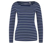 Shirt 'osn' navy / weiß