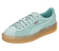 'Suede Platform Pebble' Sneaker Damen türkis