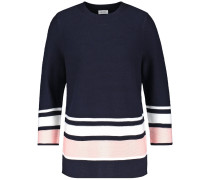 Pullover kobaltblau / puder / weiß