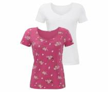 T-Shirts (2 Stück) lila / weiß