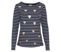 Sweater 'Heart Stripe' navy / gold