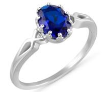 Ring blau / silber