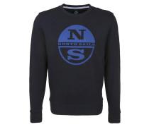 Sweatshirt 'round Neck Logo' blau